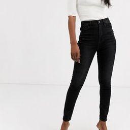 Stradivarius high waist skinny jean in black | ASOS US
