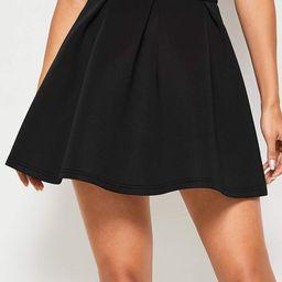 High Waist Skater Skirt   SHEIN