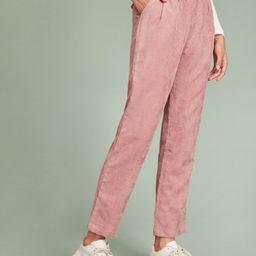 Faux Flap Pocket Back Cord Peg Pants   SHEIN