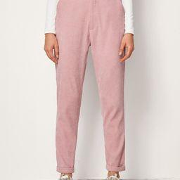 Corduroy Side Pocket Solid Pants   SHEIN