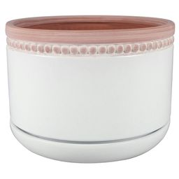 8 in. Ada Bowl White Ceramic Pot | The Home Depot
