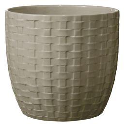 Kiruna 6 in. Dia Light Gray Ceramic Planter | The Home Depot