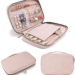 BAGSMART Jewelry Organizer Case Travel Jewelry Storage Bag for Necklace, Earrings, Rings, Bracele... | Amazon (US)