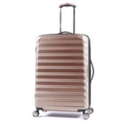 "iFLY Hard Sided Fibertech 28"" Checked Luggage, Rose Gold Luggage   Walmart (US)"