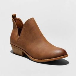 Women's Nora Faux Leather Cut Out Ankle Bootie - Universal Thread™ | Target