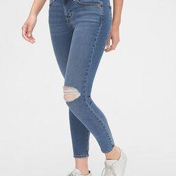 Soft Wear Mid Rise True Skinny Ankle Jeans   Gap (US)