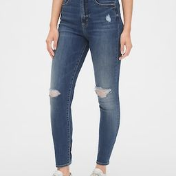 Sky High Distressed True Skinny Jeans with Secret Smoothing Pockets   Gap (US)