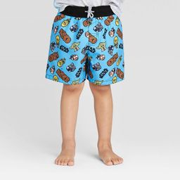 Toddler Boys' Star Wars Swim trunk - Blue | Target
