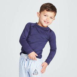 Toddler Boys' Raglan Long Sleeve Rash Guard - Cat & Jack™ Navy | Target