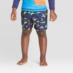 Toddler Boys' Dino Pirate with Side Seam Swim Trunk - Cat & Jack™ Navy | Target