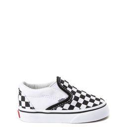 Vans Slip On Checkerboard Skate Shoe - Baby / Toddler - Black / White   Journeys