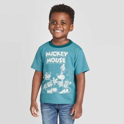 Toddler Boys' Short Sleeve Mickey Mouse T-Shirt - Green   Target