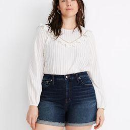 Curvy High-Rise Denim Shorts in Canterdale Wash   Madewell