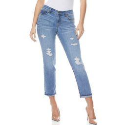 Sofia Jeans by Sofia Vergara Bagi Boyfriend Destructed Mid Rise Ankle Jeans, Women's   Walmart (US)