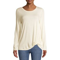 Women's Long Sleeve Twist T-Shirt   Walmart (US)