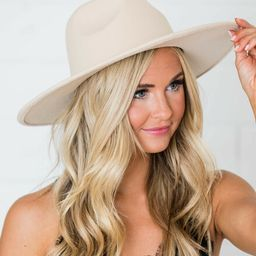 For Next Time Ivory Hat   The Pink Lily Boutique