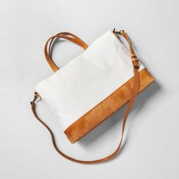 Sour Cream Satchel with Crossbody Strap - Hearth & Hand™ with Magnolia | Target