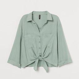 Tie-hem Shirt | H&M (US)