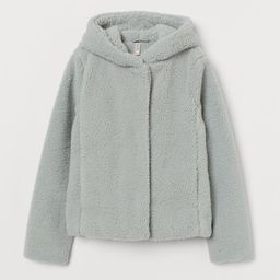 Hooded Faux Shearling Jacket | H&M (US)