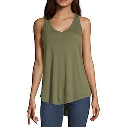 a.n.a Womens V Neck Sleeveless Tank Top | JCPenney