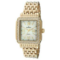Peugeot Women's Gold tone crystal bezel watch | Target