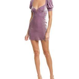 For Love & Lemons Viva Deep V Silk-Blend Mini Dress   Gilt