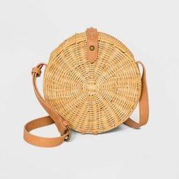 Straw Rattan Circle Crossbody Bag - Universal Thread™ Natural | Target