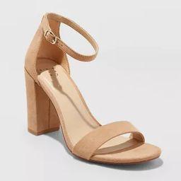 Women's Ema Wide Width High Block Heel Pumps - A New Day™ | Target