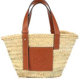Leather-trimmed basket tote | Mytheresa (UK)