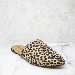 The Emma Brown Animal Print Mules   The Pink Lily Boutique
