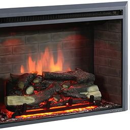 PuraFlame 30 Inches Western Electric Fireplace Insert with Remote Control, 750/1500W, Black | Amazon (US)