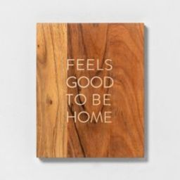 Wood Sign Feels Good To Be Home - Hearth & Hand™ with Magnolia   Target