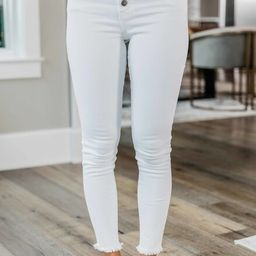 The Chelsie White Jeans | The Pink Lily Boutique