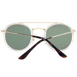 DUSHINE Round Double Bridge Sunglasses For Women Men Polarized 100% UV Protection | Amazon (US)
