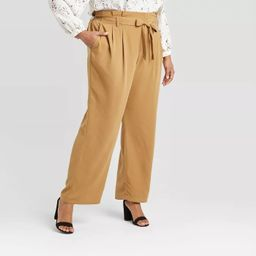 Women's Plus Size High-Rise Paperbag Pants - A New Day™ | Target