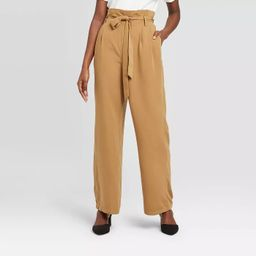Women's High-Rise Ankle Length Paperbag Pants - A New Day™ | Target