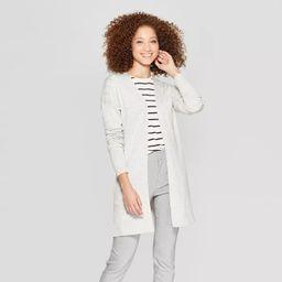 Women's Long Sleeve Back Belt Open Cardigan Sweater - A New Day™ | Target