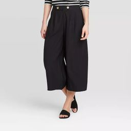 Women's High-Rise Wide Leg Front Pleat Cropped Pants - Who What Wear™ | Target