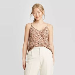 Women's Leopard Print V-Neck Cami - A New Day™ | Target
