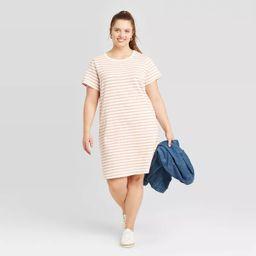 Women's Plus Size Striped Short Sleeve T-Shirt Dress - Universal Thread™ | Target