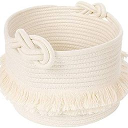 Small Woven Storage Baskets Cotton Rope Decorative Hamper for Diaper, Blankets, Magazine and Keys...   Amazon (US)