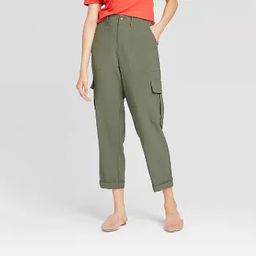 Women's Mid-Rise Straight Leg Ankle Length Utility Pants - A New Day™   Target