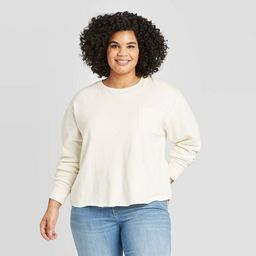 Women's Plus Size Crewneck Pocket Sweatshirt - Universal Thread™ | Target