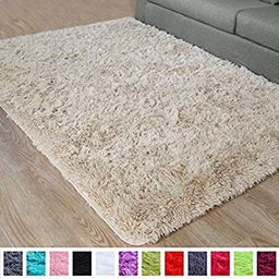 PAGISOFE Fluffy Hairy High Pile Furry Area Rugs Shag Throw Faux Fur Rug Carpet for Living Room Be...   Amazon (US)