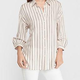 Oversized Striped Boyfriend Shirt   Express