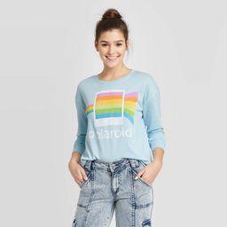 Women's Polaroid Sweatshirt (Juniors') - Light Blue L, Women's, Size: Large | Target