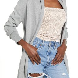 Women's Leith Open Front Cardigan, Size XX-Small - Grey   Nordstrom