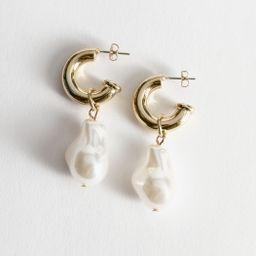 Pearl Pendant Mini Hoop Earrings | & Other Stories