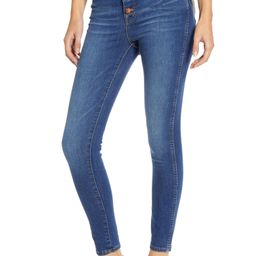 High Rise Button Front Skinny Jeans   Nordstrom