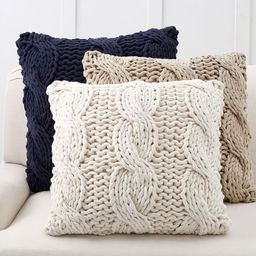 Colossal Handknit Pillow Covers | Pottery Barn (US)